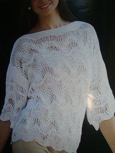 Μια όμορφη δαντελωτή πλέξη για το καλοκαίρι   A beautiful lace pattern for Summer                         Το σχεδιάγραμμα της πλέξης :  ...