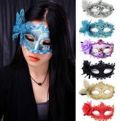 HOT Halloween mask colored drawing masks masquerade masks mask  FREE SHIPPING