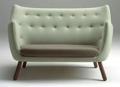 Finn Juhl designed Poeten for his own home in Today this sofa represents a part of Danish cultural history and modern furniture that exudes values that have more or less disappeared in these days of fleeting fancies. Poeten is made to the finest man Sofa Design, Interior Design, Cool Furniture, Modern Furniture, Furniture Design, Take A Seat, Love Seat, Objet Deco Design, Scandinavian Sofas