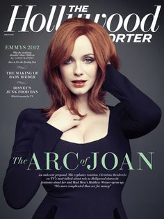 Christina Hendricks covers The Hollywood Reporter - June 15, 2012 #MadMen