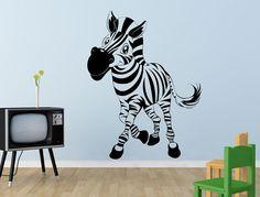 wall sticker cute Zebra by stickdecor on Etsy, ₪88.00