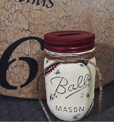 Mason Jar (Baseball) Piggy Banks