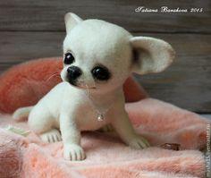 """Купить """"Бьянка"""" - чихуахуа, чихуа, щенок, щеночек, щенок из шерсти, войлочная игрушка"""