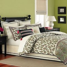 Martha Stewart Collection Paisley Flourish 6 Piece Queen Comforter Set >>> Want additional info? Click on the image.