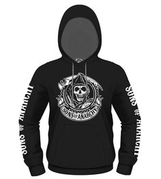 Sudadera con capucha Sons of Anarchy. Logo Reaper Espectacular sudadera con capucha con un diseño totalmente oficial y en color negro perteneciente a la popular serie de TV Sons of Anarchy. Ideal como regalo para cualquier fan de la serie.