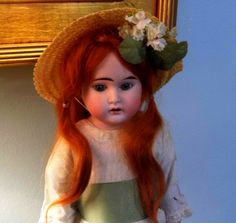 """15"""" Beautiful Winsome Antique Armand Marseille Louis Wolf Bisque doll Red Hair"""