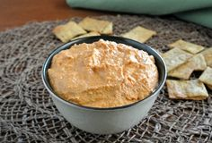 Everybody loves Red Bell Pepper Hummus. Yes, the guys too. Chickpeas and red bells make a flavorful and simple dip that goes with chips or vegetables.