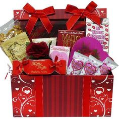 Art of Appreciation Gift Baskets Sweet Love Valentine's Day Chocolate and Treats Gift Box Set - http://mygourmetgifts.com/art-of-appreciation-gift-baskets-sweet-love-valentines-day-chocolate-and-treats-gift-box-set/