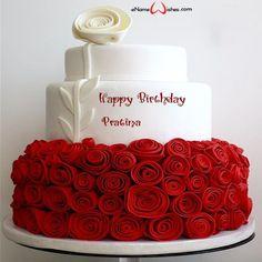 Birthday Cake Write Name, Birthday Cake Greetings, Birthday Cake Gif, Birthday Wishes With Name, Birthday Cake Writing, Bithday Cake, Elegant Birthday Cakes, Happy Birthday Wishes Images, Birthday Cake With Photo