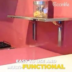 Space Saving Furniture, Home Decor Furniture, Furniture Plans, Kitchen Furniture, Wall Shelf Brackets, Wall Shelves, Comment Dresser Une Table, Kitchen Design Gallery, 3d Prints