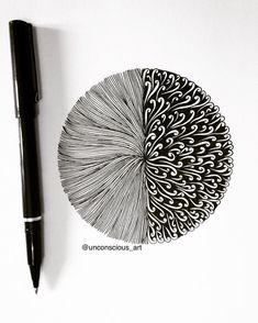 40 Creative Doodle Art Ideas to Practice in Free Time Zentangle Drawings, Zentangle Patterns, Doodle Drawings, Doodle Art, Doodles Zentangles, Parametrisches Design, Mandala Doodle, Tangle Art, Zen Art