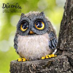 Owl Crafts, Clay Crafts, Crochet Motifs, Crochet Toys, Textured Yarn, Pom Pom Crafts, Needle Felted, Owl Art, Lana