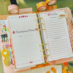 Thanksgiving Planner Filofax Personal Inserts by EasyLifePlanners