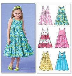 Details About Sewing Pattern Makes Dress Sundress 6 Styles Sizes Toddler 2 To Child 8 Girl Sewing Pattern To Make Your Choice Of Two Sizes Little Girl Dress Patterns, Summer Dress Patterns, Sewing Patterns For Kids, Pattern Sewing, Children's Dress Patterns, Toddler Dress Patterns, Little Girl Dresses, Girls Dresses, Sun Dresses