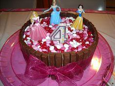 Easy peasy birthday cake...kit kats around round cake with M&Ms on top!  YUM!! Oh my goodness I have to make :)