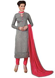 Diyastyle Heavy Embroidered Salwar suit dupatta material Mega ...