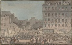 Louis XVI Entering Paris, October 6, 1789, 1789 by Swebach (1769-1823)