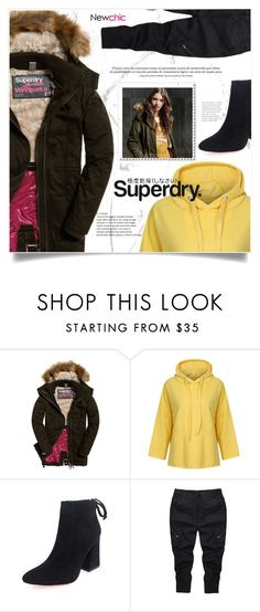 """The Cover Up – Jackets by Superdry: Contest Entry /NewChic"" by jecikilicica ❤ liked on Polyvore featuring Superdry"