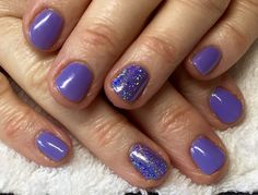 CND Shellac Wisteria Haze with Lecente Mortar Glitter at Nails by Kirstie.