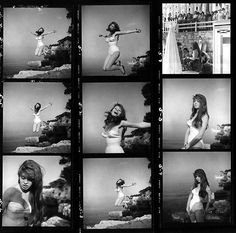 Brigette Bardot (contact sheet), 1951 por Philippe Halsman (visto en Laurence Miller Gallery) *