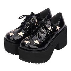platform shoes Lolita Platform Demonia Gothic Punk Platform Stars Shoes Available Up Size - Dr Shoes, Goth Shoes, Me Too Shoes, Oxford Shoes, Aesthetic Shoes, Pretty Shoes, Gothic Lolita, Lolita Style, Gothic Girls