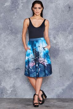 Hide and Freak Pocket Midi Skirt - 48HR ($110AUD) by BlackMilk Clothing