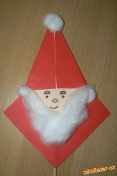 Mikuláš raz dva hotový Scrapbooks, Tree Skirts, Kids Crafts, Advent, Origami, Christmas Tree, Holiday Decor, Santos, Xmas Tree