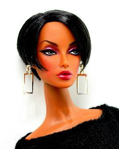 doll with short bob haircut Beautiful Barbie Dolls, Pretty Dolls, Afro, Diva Dolls, Dolls Dolls, Ebony Models, African American Dolls, Valley Of The Dolls, Doll Painting