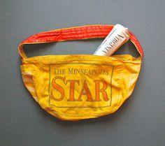 Vintage Newspaper Bag - The Minneapolis Star Newspaper delivery bag - Shoulder bag on Etsy, $105.00