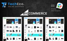 TechEco - BigCommerce Theme is a modern, clean and professional BigCommerce theme is fully responsive, it looks stunning on all types of screens and devices. Ecommerce Website Design, Website Design Layout, Website Design Inspiration, Web Layout, Layout Design, Learn Web Design, Creative Web Design, Branding Portfolio, Best Website Templates
