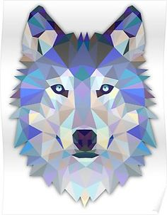Look what I found on Origami Wolf Face Wall Decal by Ambiance Sticker Ambiance Sticker, Wolf Poster, Geometric Wolf, Polygon Art, Dire Wolf, Arte Pop, Animal Nursery, Framed Art Prints, Wall Prints