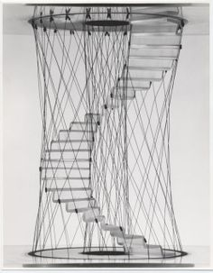 Pio Manzù, design studies of stairs, 1968