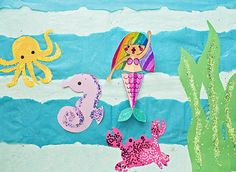 hello, Wonderful - SWIMMING MERMAID PAPER CRAFT WITH FREE PRINTABLES