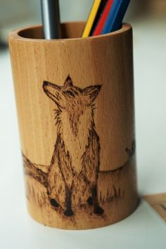 Wooden Desk Tidy woodland themed desk tidy decoration for