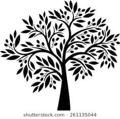 Like the olive tree drawing Olive Tree Tattoos, Tree Stencil, Stencils, Tree Logos, Tree Images, Plant Drawing, Tree Illustration, Tree Silhouette, Tree Designs