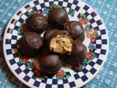 Tami's Kitchen Table Talk: No Bake Chocolate Covered Peanut Butter Balls & Our Weekly Menu Plan