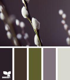 kleuren palet grijs en groen
