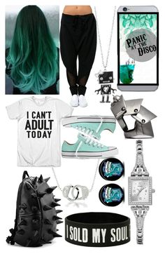 """""""Liana"""" by firesreign ❤ liked on Polyvore featuring Bling Jewelry, Converse, Forever 21, Vivienne Westwood and GUESS"""