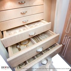 Only  Closet Factory  hand makes their double and single deck custom jewelry drawers custom sized to fit the drawer. All drawers are mau2026 & Only