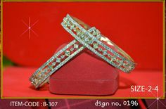 AD jewellery with 1 gram gold polish. Size : 2.4, 2.6 & 2.8 available.  Price: 1475/- Free shipping in India.