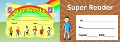 Download our twin pack of 'Super Reader' certificates. www.teachingessentials.co.uk/store.html