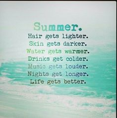Basic facts about summer