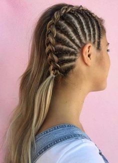 Fabulous Side Braids You Need to Sport in 2018 If you still can't find the perfect styles of wedding and bridal hairstyles to show off right now then you must visit here for sensational trends of braids for long hair in Frontal Hairstyles, Braided Hairstyles Updo, Straight Hairstyles, Cool Hairstyles, Bridal Hairstyles, Hairstyle Ideas, Braided Updo, Beyonce Hairstyles, Black Hairstyles