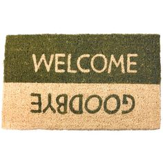 Welcome/Goodbye Hand Woven 18x30, $25, now featured on Fab.