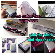 Made to Order Clear NWT ONLY Bible Cover with Custom Trim and Zipper closure, Zipper Bible Cover