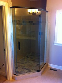 Satin etched heavy glass shower doors pinterest bathroom frameless glass shower door installation and replacement in kansas city for thick luxurious glass heavy duty frameless glass options in kansas city planetlyrics Gallery