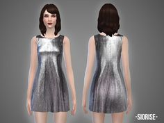 The Sims Resource: Siorise - dress by April • Sims 4 Downloads