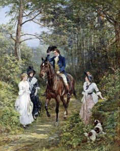 The Meeting In The Forest::: Heywood Hardy [British Painter, 1843-1933]