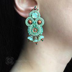 Heidi Bennett Jade/Copper Czech Flower Stud Earrings (HB003) | Alexandra May Jewellery