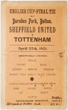 f a final programmes Football Program, Football Cards, Football Players, Leeds United, Manchester United, English Cup, Cameron Smith, Tottenham Hotspur Football, British Football